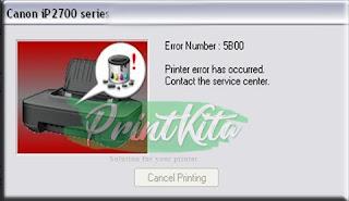 Error 5B00 ink absorber full canon IP2700 2770 2772 2780