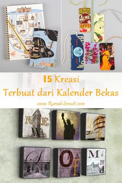 15 Kreasi Terbuat dari Kalender Bekas