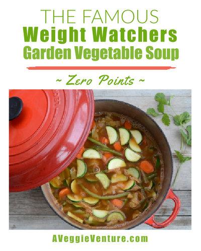 Weight Watchers Zero Points Garden Vegetable Soup ♥ AVeggieVenture.com, WW's famous original soup, quick to make, sure to satisfy. Vegan. Low Carb. Gluten Free. Whole 30.
