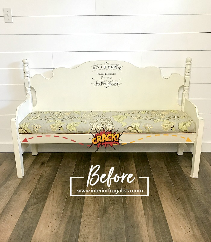 Damaged Dining Headboard Bench
