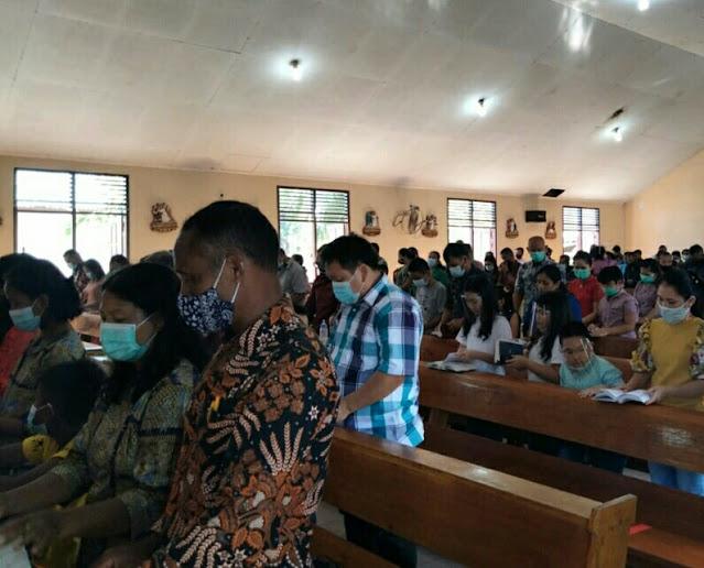 Jajaran Kodim 0318/Natuna dan Polres Natuna Lakukan  Pengamanan Kegiatan Ibadah Natal Disetiap  Gereja