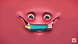 monster cute hd pink 3d hello face wallpapers happy desktop