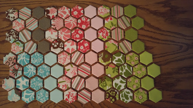 Modern Hexies Table Runner by Slice of Pi Quilts
