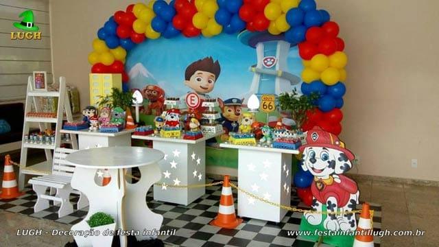 Decoração Patrulha Canina para aniversário - Festa infantil - Barra - RJ