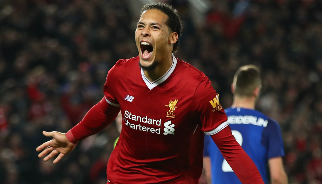 Van Dijk Pede Liverpool Double Winners