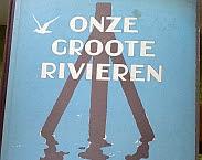 uitsnede cover Verkade plaatjesalbum 'Onze groote rivieren' van Jac. P. Thysse uit 1938. In: Like de Hydrotheek facebook pagina en win een boek!