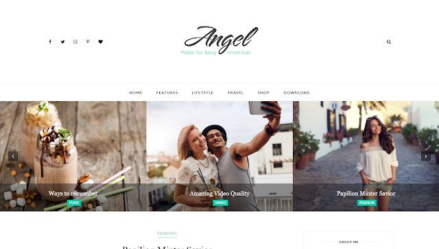 Angel Blogger Teması