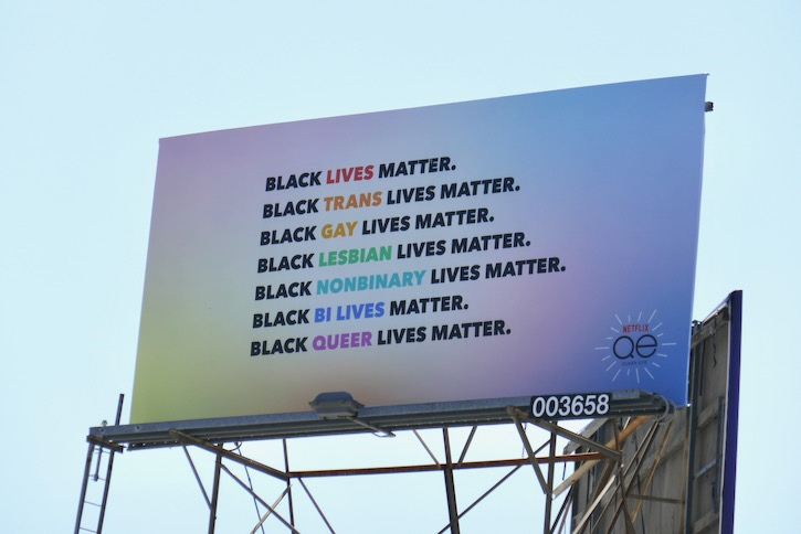 Black Lives Matter Queer Eye billboard