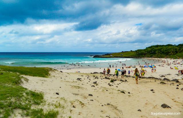 Praia de Anakena, Ilha de Páscoa