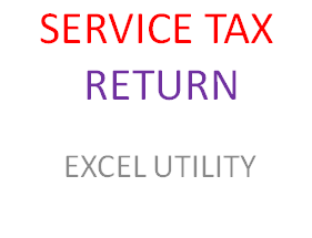 SERVICE TAX RETURN EXCEL UTILITY