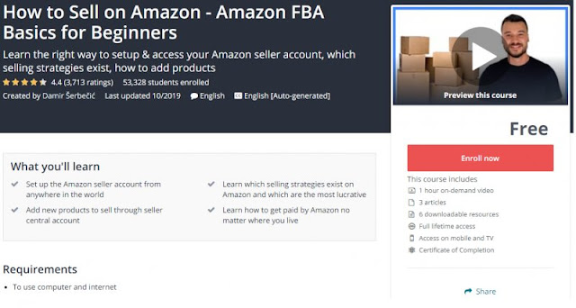 [100% Free] How to Sell on Amazon - Amazon FBA Basics for Beginners