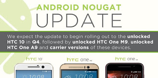 HTC announces the Nougat support for HTC 10 and One M9 HTC announces the Nougat support and timing for HTC 10 One M9 and One M9