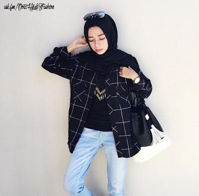 Kemeja Flanel Wanita Hijab 1