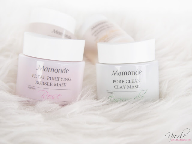 Mamonde Petal Purifying Bubble Mask and Mamonde Pore Clean Clay Mask