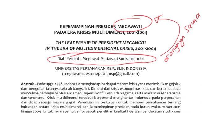 Dianggap Tak Paham Penulisan, Profesor Ini Turun Tangan Ajari 'Megawati' Bikin Karya Ilmiah Biar Gak Norak