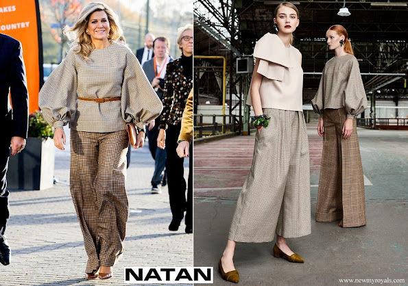 Queen Maxima wore Natan top and trousers from Fall Winter Collection