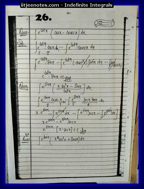 indefinite integrals notes download2