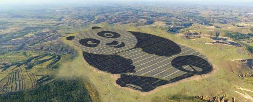 Chinese Designed A Gigantic Solar Farm That's Shaped Like A Panda