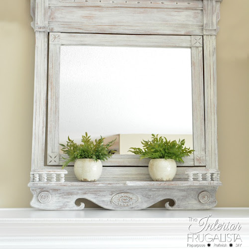 30 Minute Eastlake Farmhouse Swivel Mirror Makeover