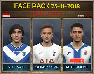 PES 2017 Facepack 25-11-2018 by Mo Ha