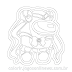 Sailor moon Crewmate Sticker para Colorir