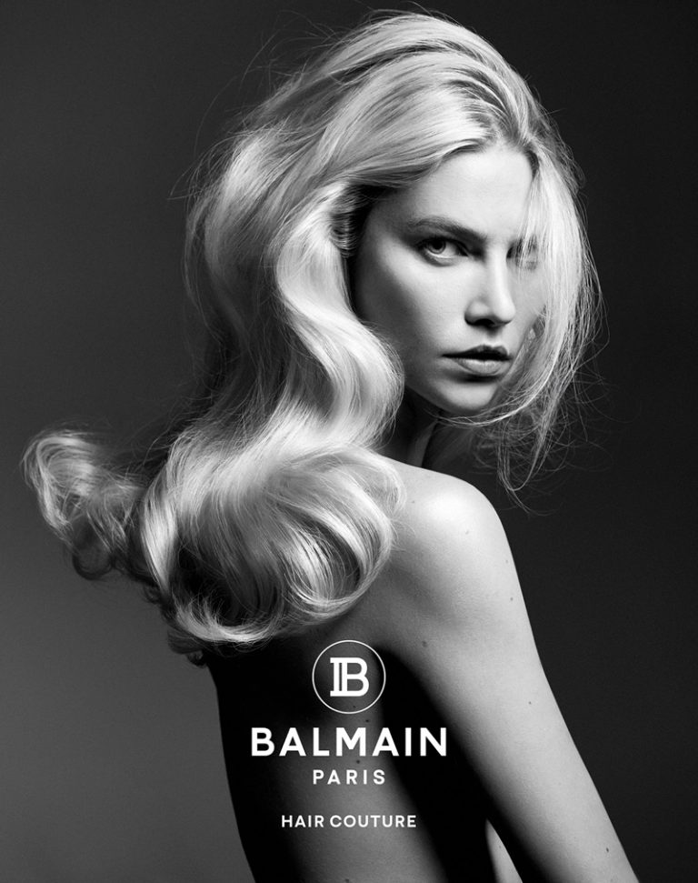 Aline Weber stars in Balmain Hair Couture fall-winter 2019 campaign