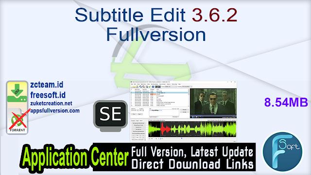 Subtitle Edit 3.6.2 Fullversion