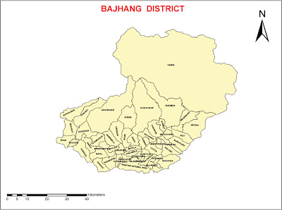 Bajhang District map