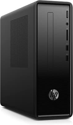 HP Slimline 290-a0006ns: ordenador AMD de doble núcleo, con disco SSD (256 GB), teclado, ratón y Wi-Fi 5