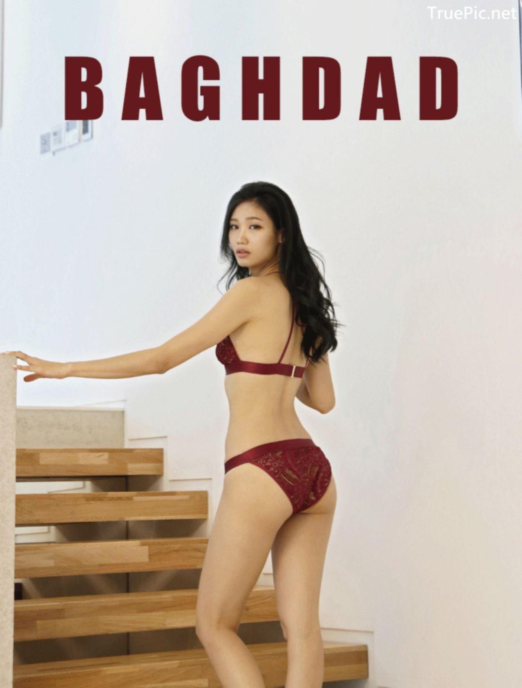 Image Korean Fashion Model - Lee Hee Eun - Baghdad Caffeine Burgundy Lingerie - TruePic.net - Picture-3