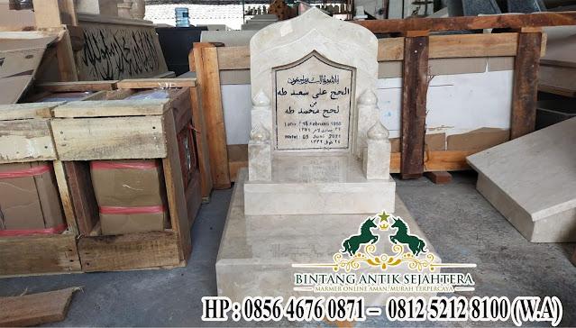 Nisan Batu Marmer, Contoh Nisan Marmer, Model Nisan Masjid Custom