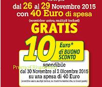 Logo  Buono sconto da 10 euro per risparmiare sulla spesa