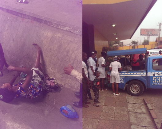 woman gives birth onitsha streets