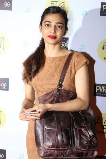 Hindi Girl Without Makeup Radhika Apte Stills At Special Screening Film