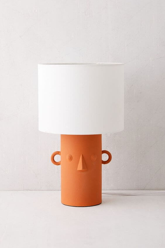 Upcycled Lamp - Urban Outfitters Knockoff Face Lamp