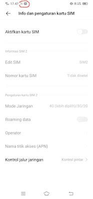 Ikon notifikasi sudah muncul - Vivo Y12 Android 11.