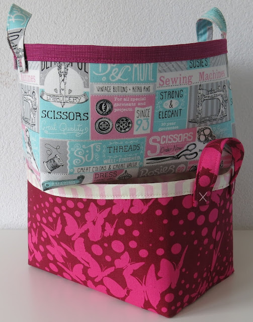 Two fabric baskets