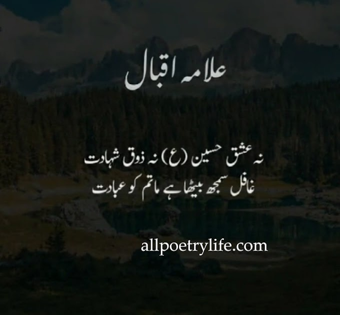 Allama iqbal sad poetry in urdu images