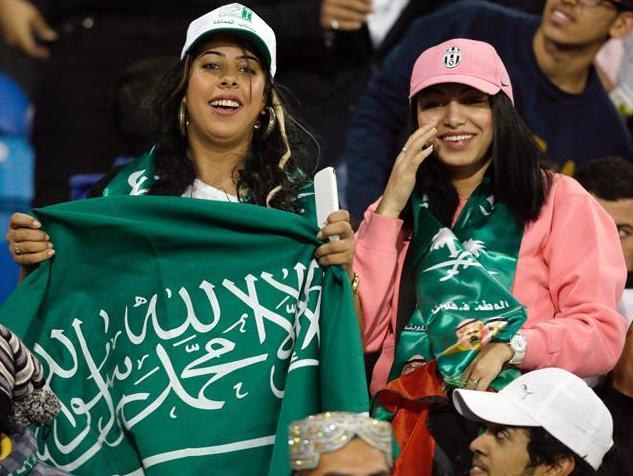 صور مشجعات السعودية 2018 , مشجعات سعوديات جميلات
