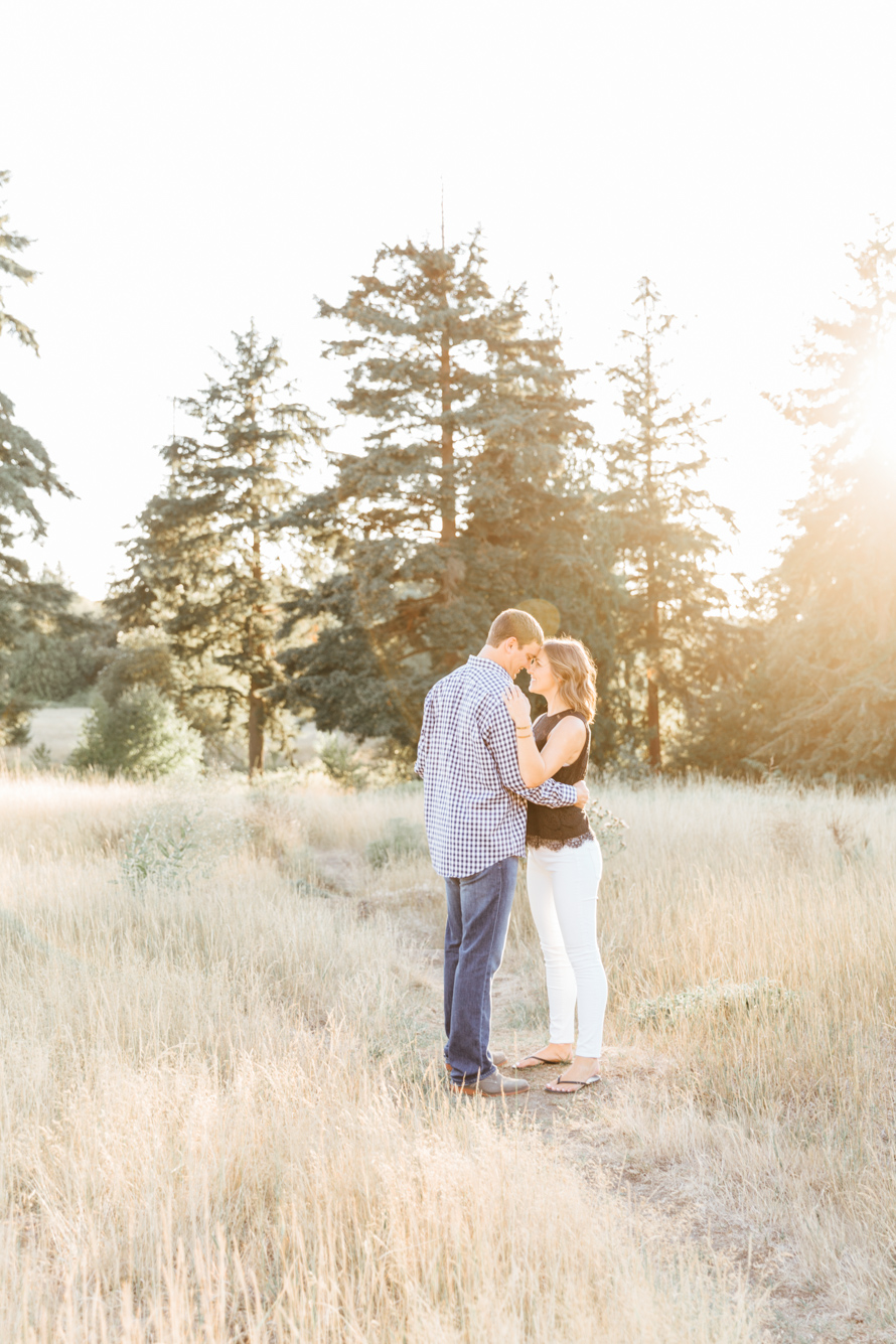Golden Field Engagement Session by Something Minted Photography