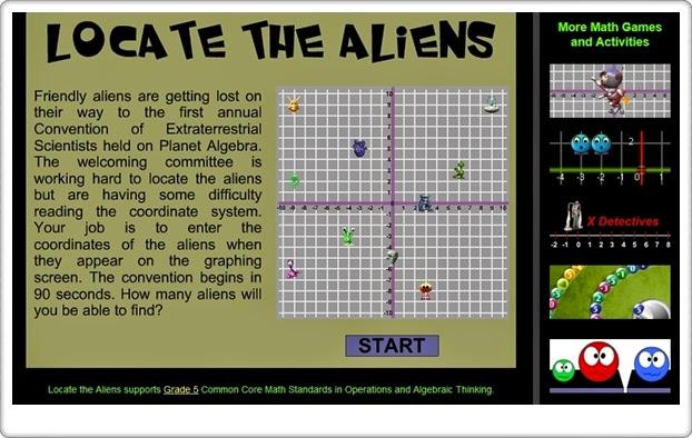 """""""Locate the aliens"""" (Juego de Coordenadas Cartesianas)"""