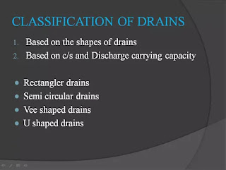 classification of drain and sewer ppt