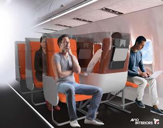 Rancangan Kursi Pesawat Pasca Covid-19
