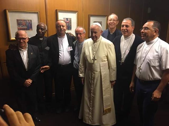 Papa Francisco se reúne com o Bispo de Guajará-Mirim, Dom Benedito