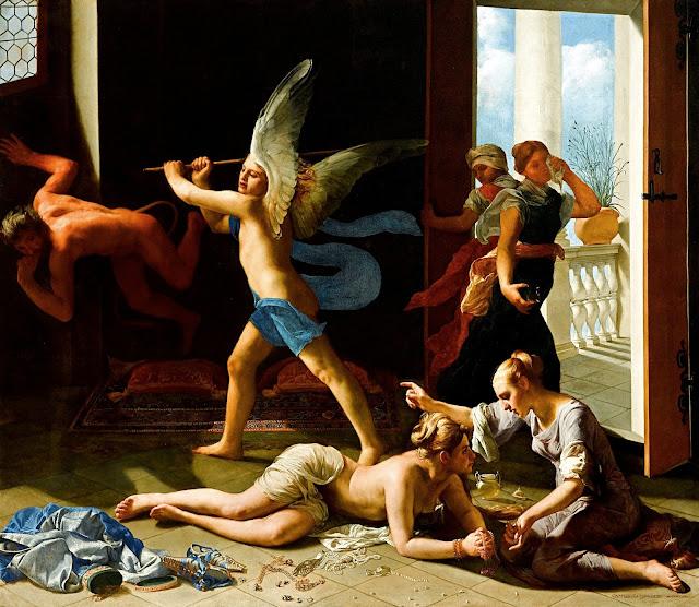 CAGNACCI - Maddalena penitente - erotismo - dipinto