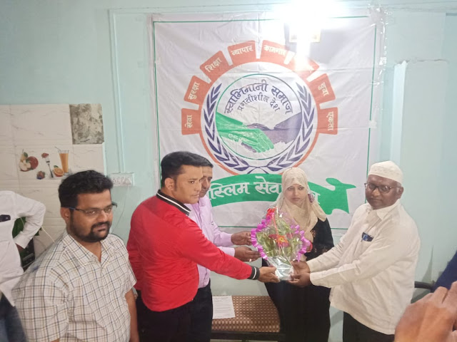 Zakia Khan was appointed as the female president of the Pune City in the Muslim Seva sangh
