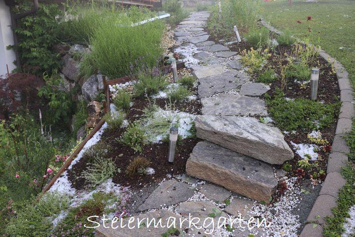 Hagelschaden-Gartenweg-Steiermarkgarten