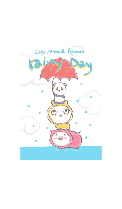 Lazy_panda & friends : rainy Day