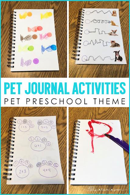Pet Themed Preschool Journal Activities