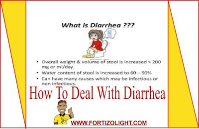 How To Deal With Diarrhea, Natural home remedy for diarrhea, how to cure diarrhea.